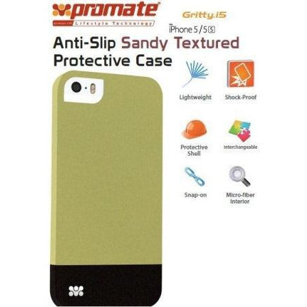 Promate Gritty-i5 iPhone 5 Anti-Slip Sandy finishing protective case for Iphone 5/5s Colour:Green
