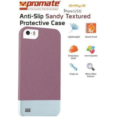 Promate Gritty-i5 iPhone 5 Anti-Slip Sandy finishing protective case for Iphone 5/5s Colour:Maroon