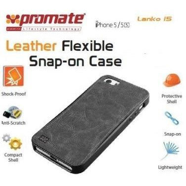 Promate Lanko.i5 iPhone 5 Hand-Crafted Leather Case, Protective, elegant & Flexible for iPhone 5/5s