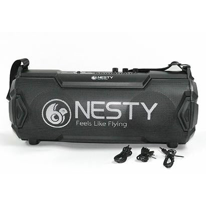 Nesty BM104 Portable Wireless Bluetooth Speaker with Digital Display FM Radio and Built In Rechargeable Battery -24W RMS , Easily Connects to your iPhone, iPad, Samsung, Android, and All Bluetooth Enabled Devices , 1800mAh Rechargeable Battery, A2D Audio Streaming up to 10metre range , USB 2.0 Port, Aux (3.5mm) Input Jack with cable included for external Audio, Micro SD Slot, Convenient Carry Handle-Black, Retail Box , 1 year Limited Warranty