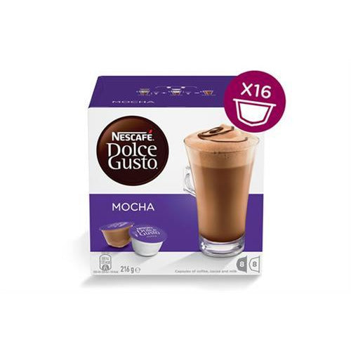 Nescafe Dolce Gusto Pods - Mocha 16 Caps Retail Box Out of Box failure Warranty