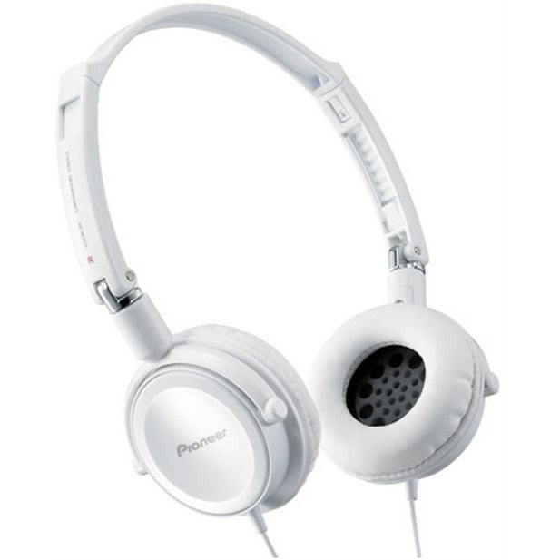 Pioneer Street Move Dynamic Overhead Headphones with Swivel Mechanism - 3.5mm Mini-Plug Gold Plated, Fully Enclosed Dynamic Headphones, Compact folding system, Swivel-out DJ Monitor Mechanism, Driver Unit Diameter: 40 mm, Frequency Response: 11 - 25,000 Hz, Cable Length: 1.2metre-White , Retail Box , 1 year Limited Warranty