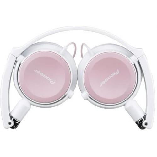 Pioneer Street Move Dynamic Overhead Headphones with Swivel Mechanism - 3.5mm Mini-Plug Gold Plated, Fully Enclosed Dynamic Headphones, Compact folding system, Swivel-out DJ Monitor Mechanism, Driver Unit Diameter: 40 mm, Frequency Response: 11 - 25,000 Hz, Cable Length: 1.2metre-Pink, Retail Box , 1 year Limited Warranty