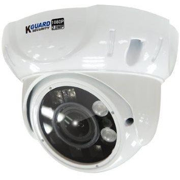 KGuard VA824EPK 1080P IR-LED Dome Camera - 2 Mega Pixel High Quality CMOS Image Sensor, Infra-Red Wavelength: 850nm, Infra-Red LED Life 10,000hrs, Lens: 2.5-12mmmm, View Angle: 25-85°, Night Vision: Black and White at night @ 35M, Retail Box , 1 Year warranty