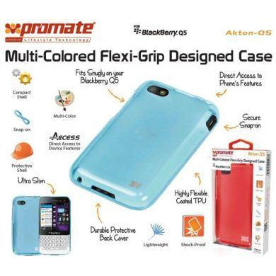 Promate Akton-Q5 Blackberry Q5 Multi-colored flexi-grip designed case Colour: Black Akton-Q5 is a