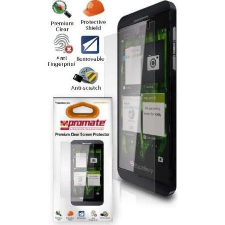Promate proShield.BBZ10-C BlackBerry Z 10 Premium Clear Screen Protector Protects against all marks,
