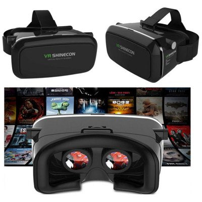 Geeko VR-Box /Shinecon Virtual Reality 3D Headset Glasses with Bluetooth Remote Controller - Supported: Android & iOS smartphone, Screen size from 4.5inch to 6.0 inch , HD Optical Resin Lens , Diameter: 42mm , FOV 70-90 Degrees for immersive 3D Experience, IPD: 58mm ~ 72mm , 360 Degree viewing and motion for full immersion, Retail Box , 1 year Limited Warranty