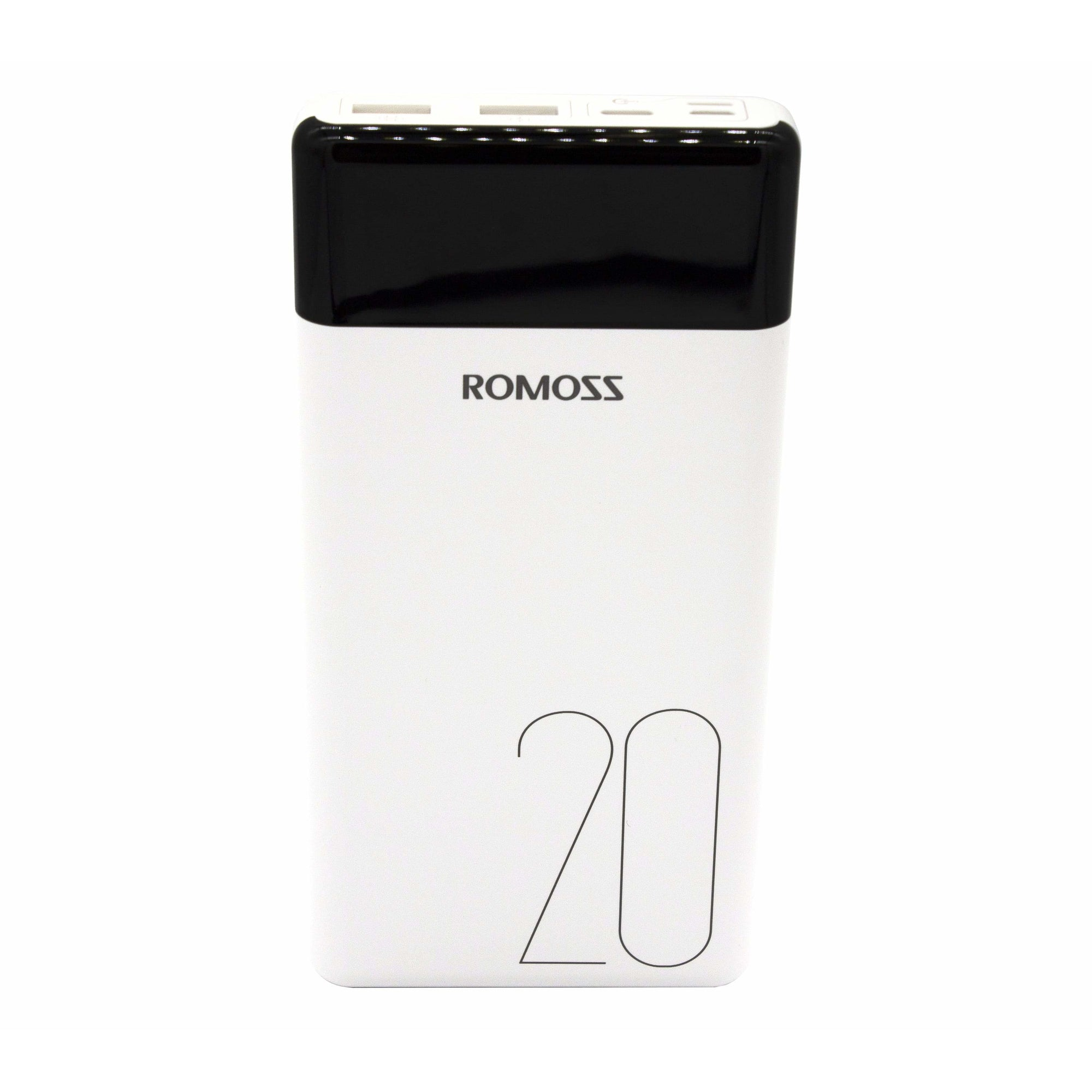 Romoss LT20 20000mAh Input: Type-C|Lightning|Micro USB|Output: 2 x USB Power Bank - White