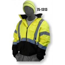PU coated polyester with fully taped seams, Black bottom, Yellow, Not detachable concealed hood, Sewn in quilted liner