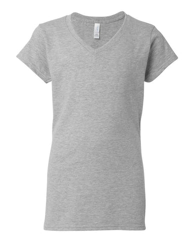 Gildan V-neck Women's Sport Grey T-shirt
