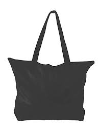 Zippered Tote Bag with Gusset