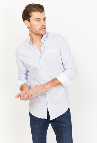 Valentino Light Blue Organic Button Up