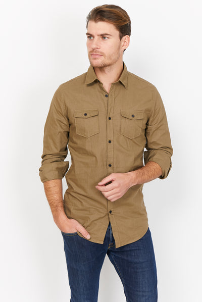 Theo Green Organic Button Up