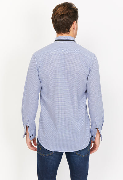 Marius Sky Blue Organic Button Up