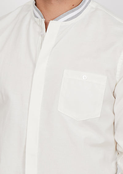 Man Wearing White Button Up Dress Shirt