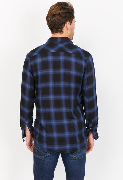 Marceau Blue Organic Button Up