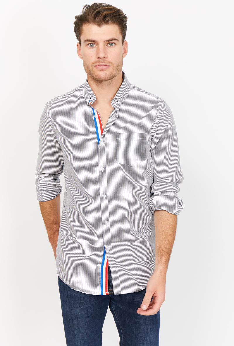 Nicolas Blue Organic Button Up