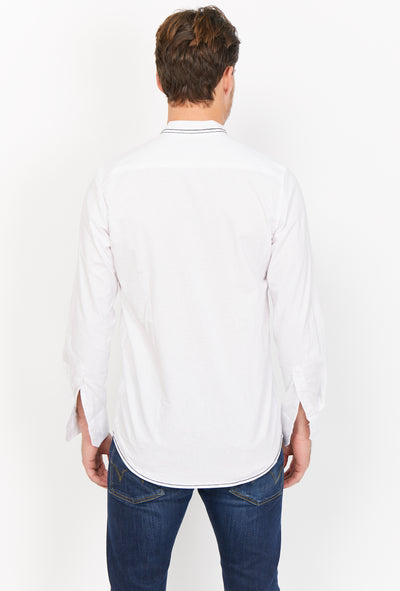 Mehdi White Organic Button Up