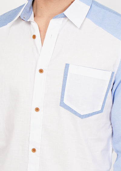 Luca White Organic Button Up
