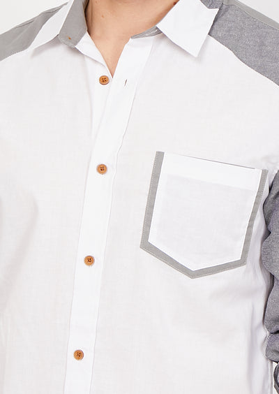 Lorenzo White Organic Button Up