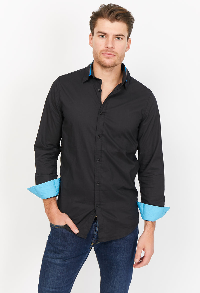 Giuseppe Black Organic Button Up