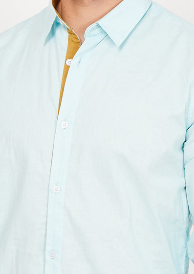 Antonio Light Blue Organic Button Up