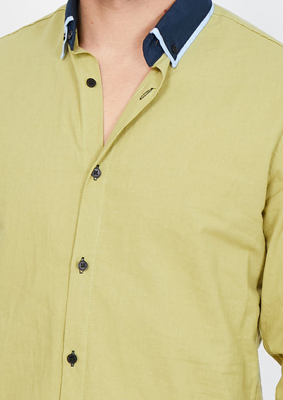 Federico Green Organic Button Up