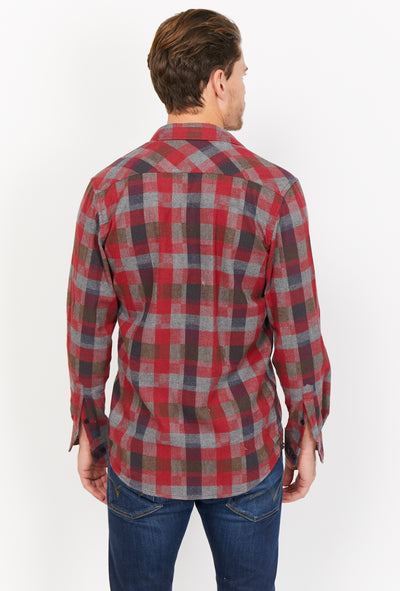 Miguel Checkered Organic Button Up