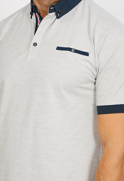 Easton Light Grey Short Sleeve Polo Shirt