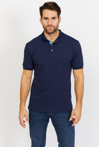 Colton Royal Blue Short Sleeve Polo Shirt