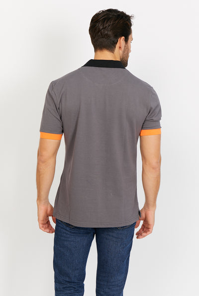 Jaxson Smoky Brown Short Sleeve Polo Shirt