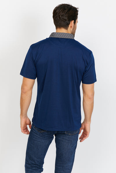 Ezekiel Saxe Blue Short Sleeve Polo Shirt