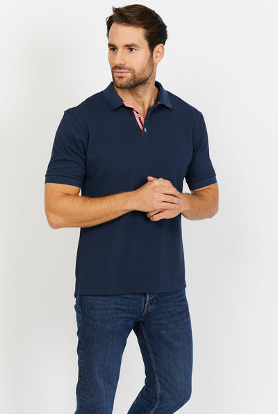 Austin Smoky Black Short Sleeve Polo Shirt