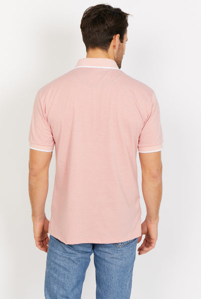 Evan Apricot Short Sleeve Polo Shirt