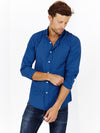 Grayson Sapphire Blue Long Sleeve Button Up Shirt