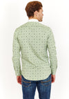 Luke Olive Green Long Sleeve Button Up Shirt
