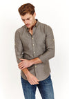 Andrew Dusky Brown Long Sleeve Button Up Shirt