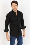 Black Button Up Dress Shirt