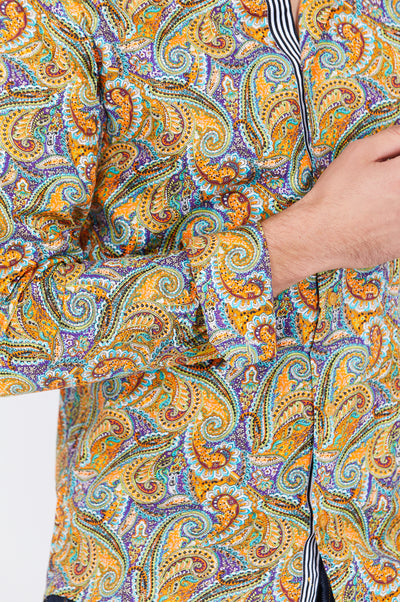 Caleb Mustad Paisley Long Sleeve Button Up Shirt