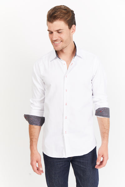 White Button Up Dress Shirt