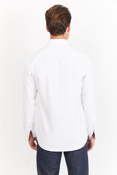 Adrian White Long Sleeve Button Up Shirt