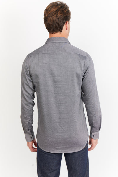 Hunter Sooty Grey Long Sleeve Button Up Shirt
