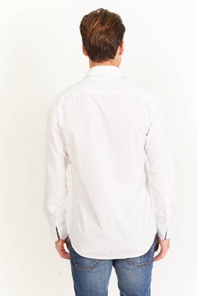 Jonathan Pearl White Long Sleeve Button Up Shirt
