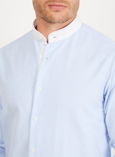 Bicle  Light Blue Long Sleeve Button Up Shirt