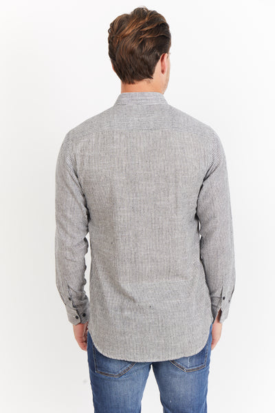 Williams  Button Up Gray PinStripe