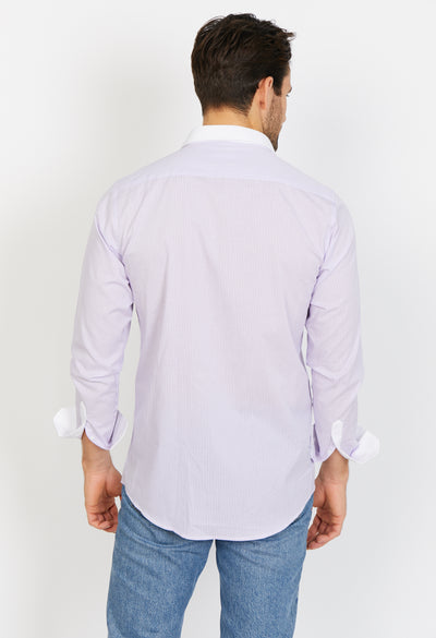 Connor Lavender Blue Long Sleeve Button Up Shirt