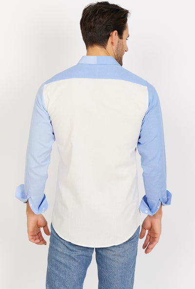 Xavier Creamy Long Sleeve Button Up Shirt