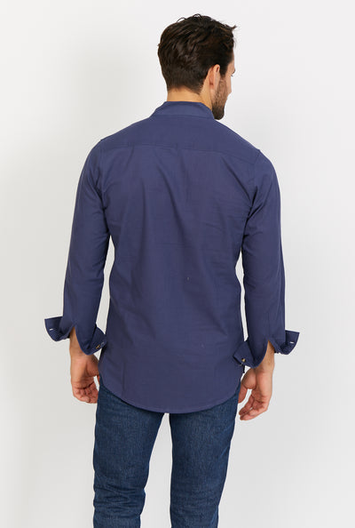 Dominic Slate Black Long Sleeve Button Up Shirt