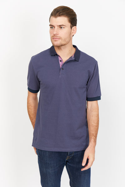 Steven Royal Blue Organic Polo Shirt