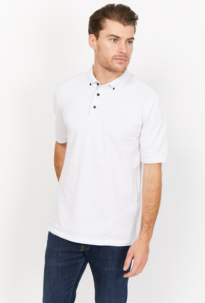 Angelo White Organic Polo Shirt